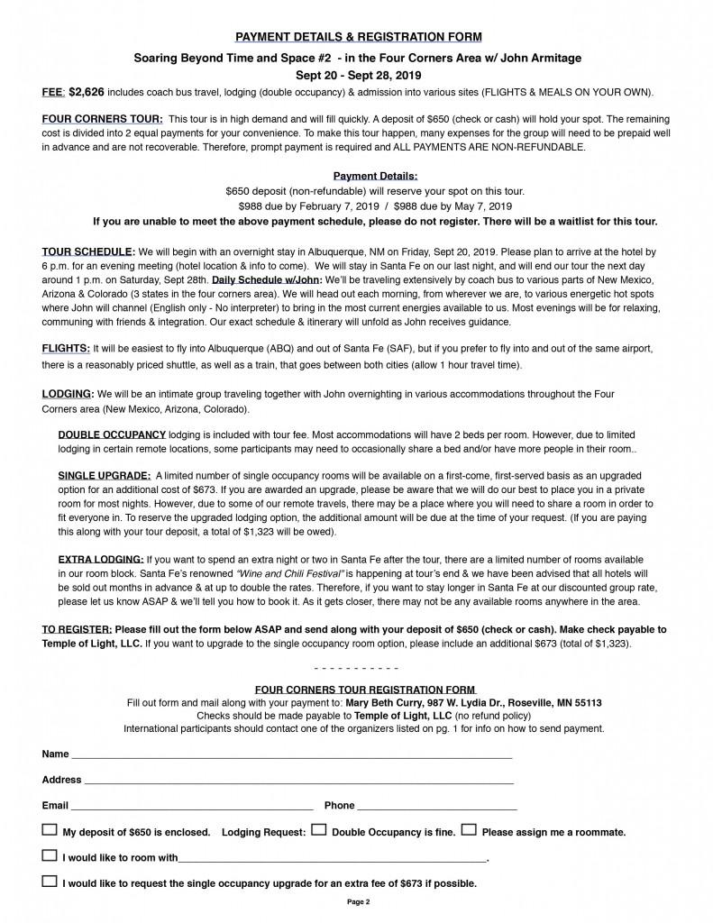 Armitage Southwest Tour Flyer 2019-2